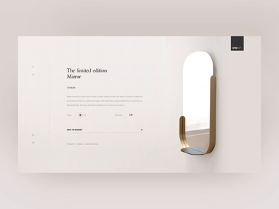 OneArt - Detail page clean animations muzli light design ae gif debut ux ui smooth minimal transition animation