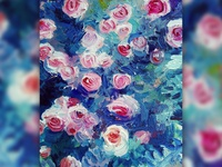 Flowers oil on canvas painting flowers picture