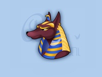 Anubis concept art character icon game art casual game 2d art illustration