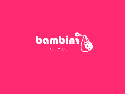 "Logo ""Bambini"" icon 2d art character branding logo vector color design"