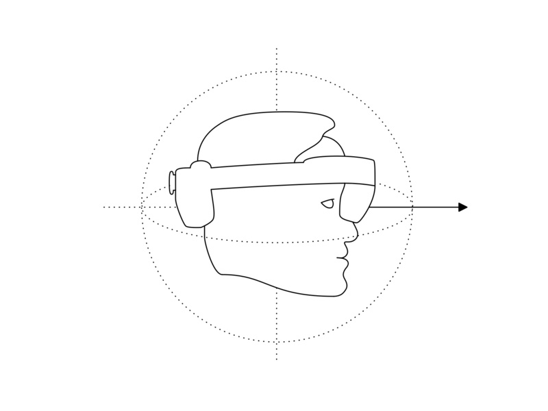 Hololens 2 Head Rotation head portrait rotation head aucta illustration hololens augmentedreality technology