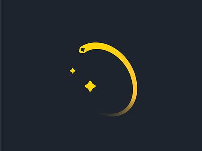 Sparkle space vector branding logo design illustration