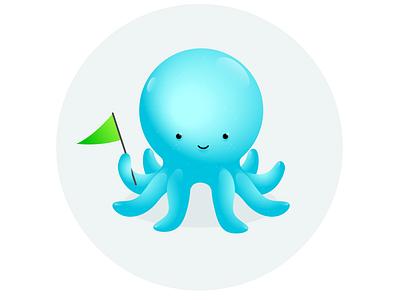 Octo handdrawn icon vector branding ui logo illustration