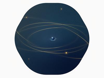 Orbit minimal illustrator design planet illustration vector