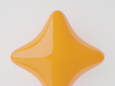 Four-point Star research iconography graphic design glyph creative direction blender 3d icon
