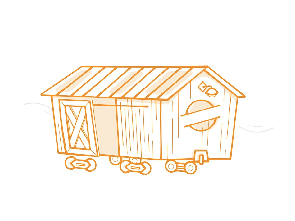 Boxcar vector illustration vector affinitydesigner train orange simple illustration