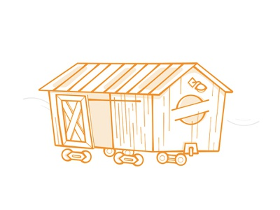 Boxcar vector illustration vector affinitydesigner train orange simple illustration