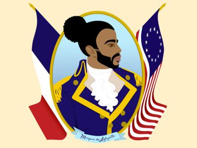 Marquis de Lafayette - Hamilton history musical revolutionary war broadway daveed diggs hamilton marquis de lafayette fanart design character design illustrator illustration