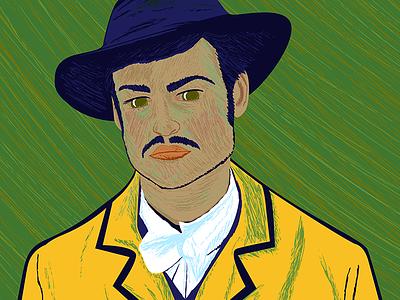 Armand Roulin - Loving Vincent fanart design illustrator illustration douglas booth armand roulin vincent van gogh loving vincent