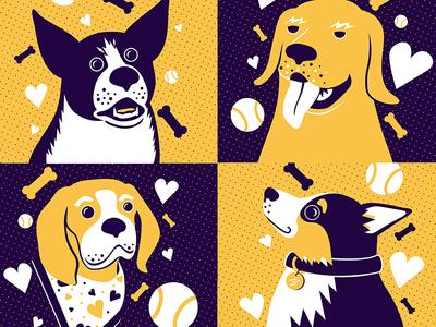 Happy Puppy Day puppy corgi dogs vector cute illustration character design illustrator design