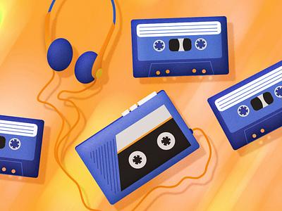 Mixtapes music tapes mixtape tape vector motion graphics motion design illustrator illustration design