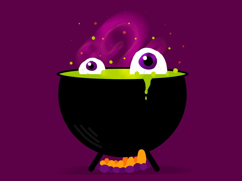 Witches Brew spooky witchcraft halloween design witch witches brew halloween character design illustrator illustration design