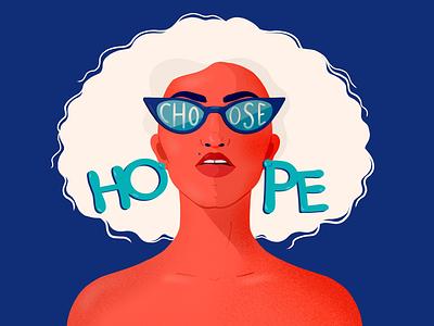 Choose Hope 2020 hope womanillustrator