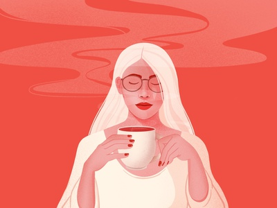 The Coffee Lady . Learn to rest, not to quit. coffee illustration woman