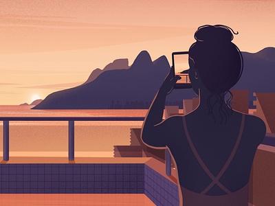 Souvenir From Rio women ladies plants illustration woman brazil riodejaneiro rio landscape