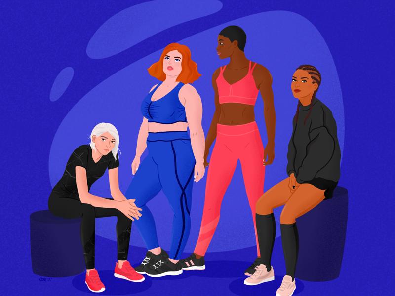 Women Bodies Celebration ladies sport yoga fitness empowered woman bodies women