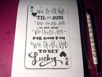 Lettering Lyrics, Daft Punk - Get Lucky