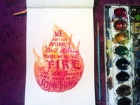 Lettering Lyrics, Ellie Goulding - Burn