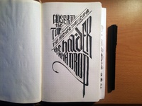 Lettering Lyrics, The Weeknd - The Morning