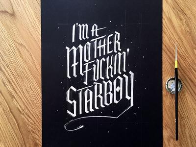 Lettering Lyrics, The Weeknd - Starboy
