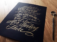 Lettering Lyrics, The Beatles - I Saw Her Standing There