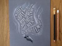 Lettering Lyrics, Calvin Harris - Slide ft. Frank Ocean & Migos