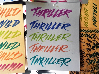 Upcoming Lettering Workshop II freestyle practice thriller italics markers script calligraphy lettering