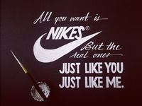 Lettering Lyrics, Frank Ocean - Nikes II