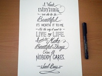 Lettering Quotes, Saul Bass