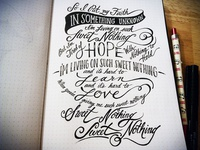 Lettering Lyrics, Calvin Harris ft. Florence Welch pt. 2