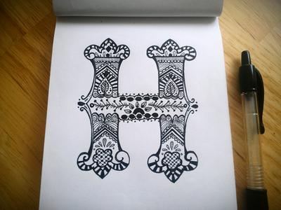 Letter H (Henna)