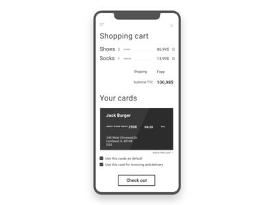 DailyUi #2 - Shopping cart