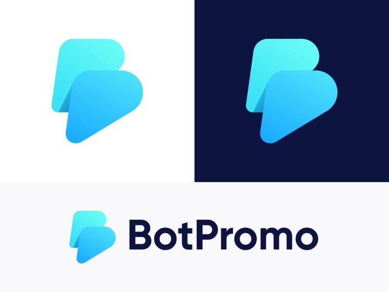 BotPromo - Approved Logo Design development promo message chatting brand indentity identity brand concept colors gradient chatapp chat chatbot bot conversation communication