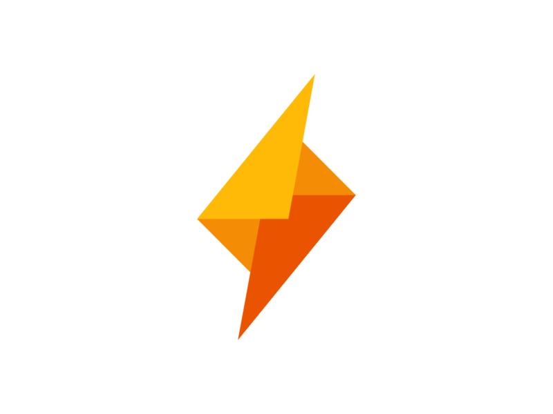 Bolt + Mail logodesign conversation mark symbol colors abstract simple speed message mail lightning bolt identity branding brand logo