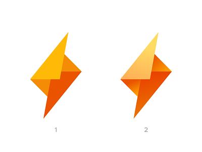 Bolt + Mail Color Exploration gradient symbol mark logo brand identity identity branding brand envelope message box email mail lightning speed bolt