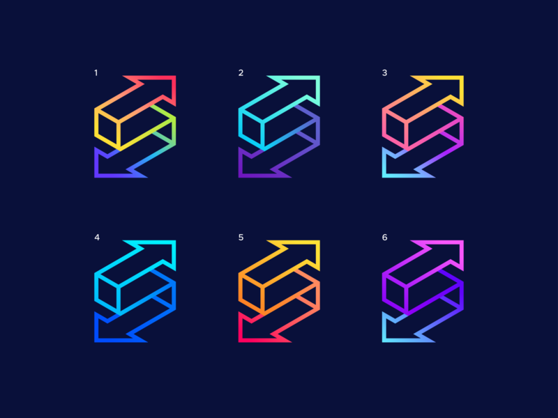 S   Color Exploration logodesign combination directions movement icon branding colors gradient simple abstract arrows letter s logo mark symbol identity brand identity brand