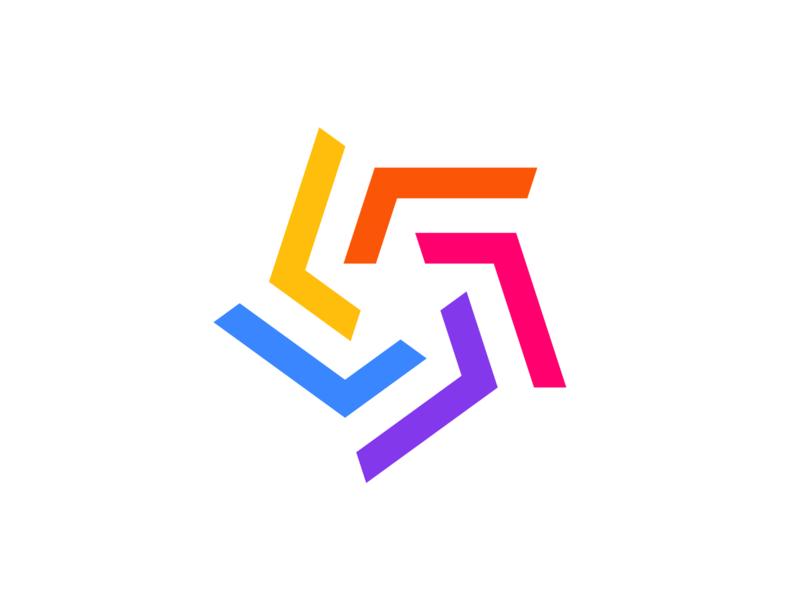 Star 2   Logo Exploration smart icon shapes victor murea logo designer logodesign negativespace symbol colorful colors mark logo branding illusion geometric pentagon star lines identity brand