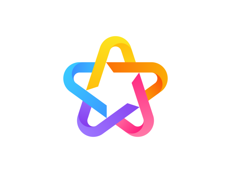 Star 3   Logo Exploration star logo logodesigner identity logodesign mark victor murea colorful smart shapes negativespace effect shadow geometric star logo symbol brand colors gradient branding