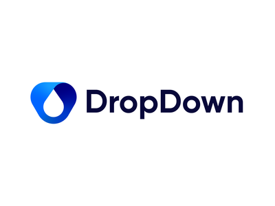 DropDown - Logo Exploration exploration minimal negativespace simple shadow abstract blue dropdown water drop logodesign brand identity brand identity colors gradient symbol mark logo branding
