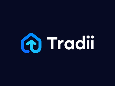Tradii – Logo Concept 2 friendship software project management construction growth abstract t saas house logodesign brand identity dribbble brand identity colors gradient symbol mark logo branding