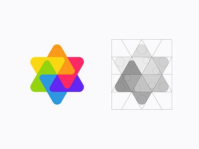 Albums - Logo Grid socialnetwork network social gallery albums videos photos simple abstract logomark colors symbol mark brand identity identity branding brand logodesigner logodesign logo