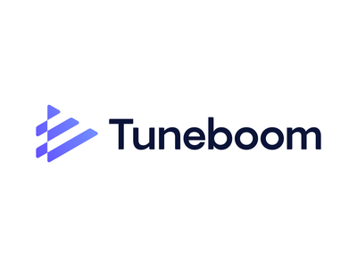 Tuneboom - Approved Logo Design tune brand branding gradient app icon platform production music video growth connection playbutton play symbol logo logodesign optical illusion timeline chart