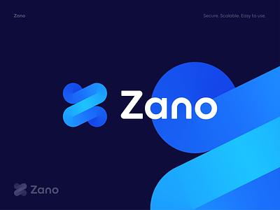 Zano - Logo Concept 2 app development transfers transactions crypto blockchain exploration z letterz symbol colors stroke gradient logo branding logodesign identity brand