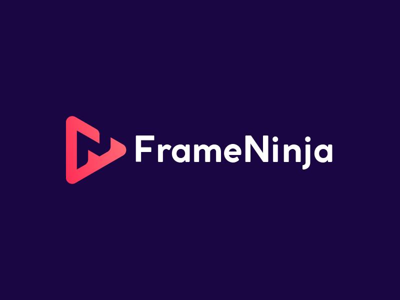FrameNinja illustration icon design art dribbble lines lettermark logomark logo mark branding
