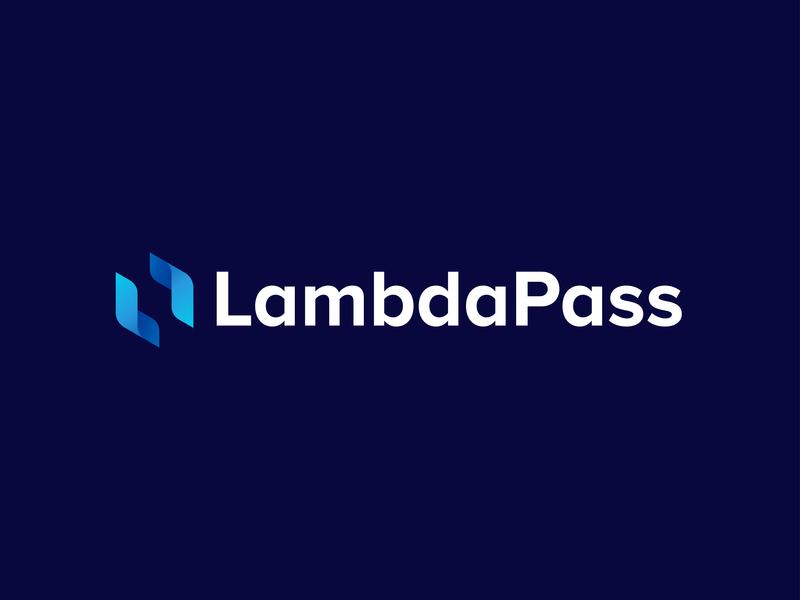 LambdaPass - Approved Logo Design icon concept company password future illustration blue science tech symbol art dribbble gradient mark logo technology identity branding identity logodesign branding