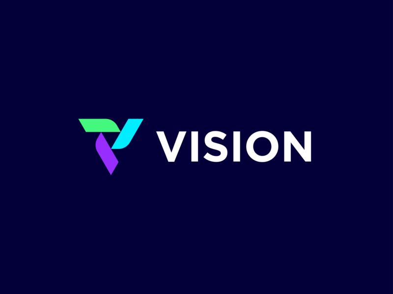 Vision - Logo Design Proposal Option 1 triangle logodesign icon development software development geometric vision logotype logomark colorscheme technology tech symbol mark identity branding brand tool productivity software