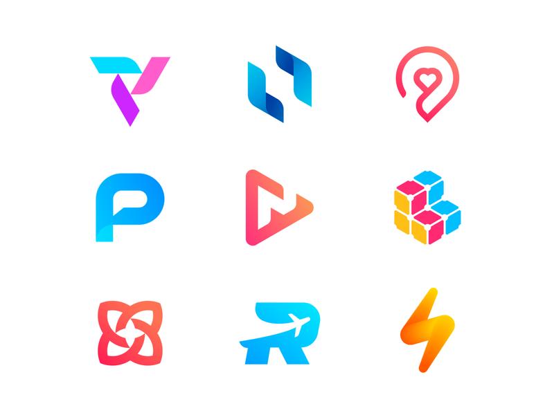 Best Nine Shots of 2019 fire logo monogram letter future gradients mark logo design logodesign brand identity identity brand symbol fast love colors gradient modern logos branding