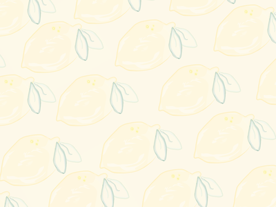 Illustrated Lemon Pattern lemon pattern art pattern water color illustration art