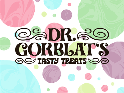 Dr. Gorblat's Tasty Treats typography logo design letterform logo branding vector design graphic graphic design