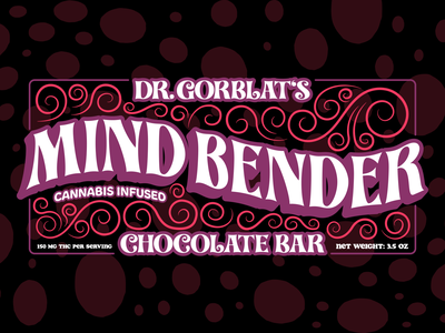 Mind Bender edibles typography branding dribbble vector illustration design graphic graphic design